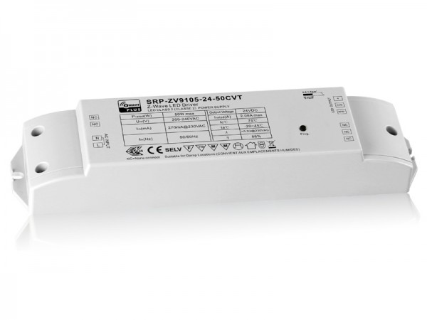 50W Dimmable Constant Voltage Z-Wave Color Temperature LED Driver SRP-ZV9105-50W-CVT