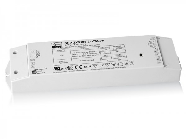 75W Constant Voltage Z-Wave RGBW LED Dimmable Driver SRP-ZV9105-75W-CVF