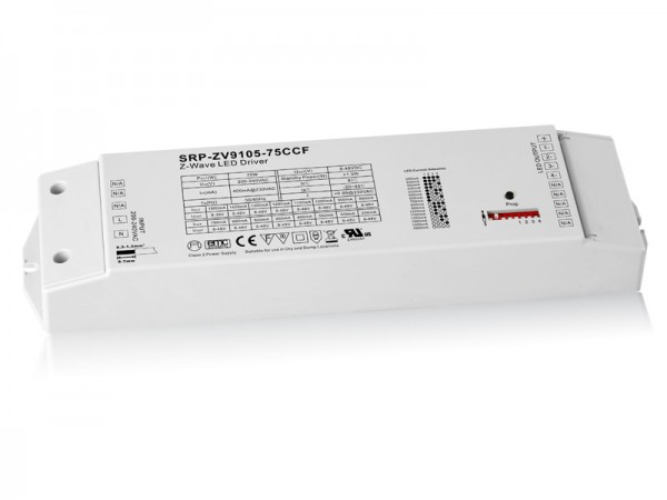 Constant Current 75W Dimmable RGBW Z-Wave LED Driver SRP-ZV9105-75W-CCF
