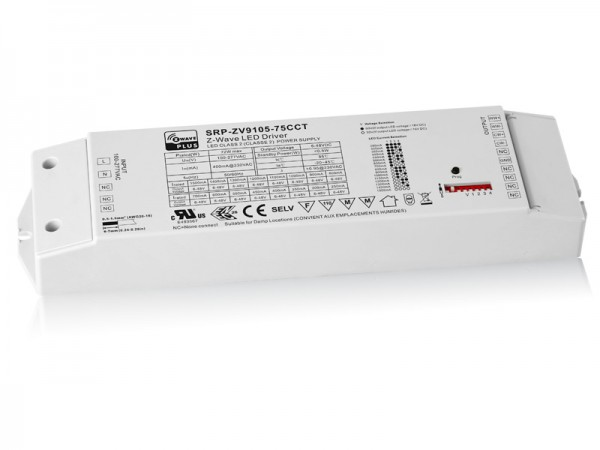 75W Constant Current Z-Wave LED Color Temperature Dimmable Driver SRP-ZV9105-75W-CCT
