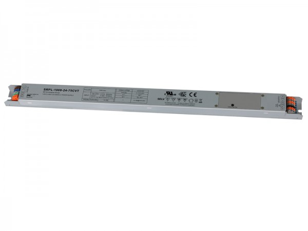 Slim Metal Casing 75W 2 Channels Constant Voltage RF Dimmable LED Driver SRPL-1009-24-75CVT
