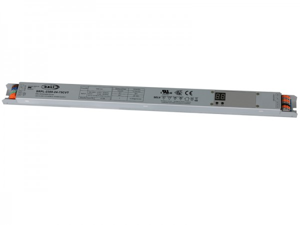 DALI-2 Certified Linear Metal Casing 75W Dimmable LED Driver SRPL-2309-24-75CVT