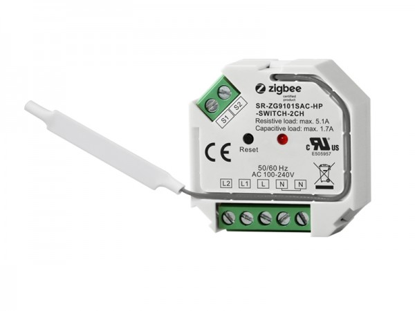 ZigBee AC 2-Gang In Wall Switch SR-ZG9101SAC-HP-Switch-2CH