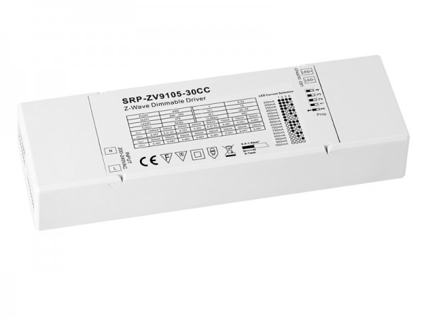 Constant Current 30w Z-Wave LED Dimmable Driver SRP-ZV9105-30W-CC
