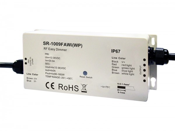 Waterproof Rf Amp Wifi Rgbw Led Controller Sr 1009fawiwp