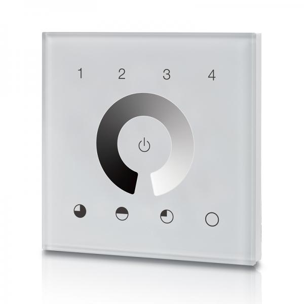 4 Groups Single Color Touch Panel Z Wave Secondary Controller SR-ZV9001T4-DIM-EU