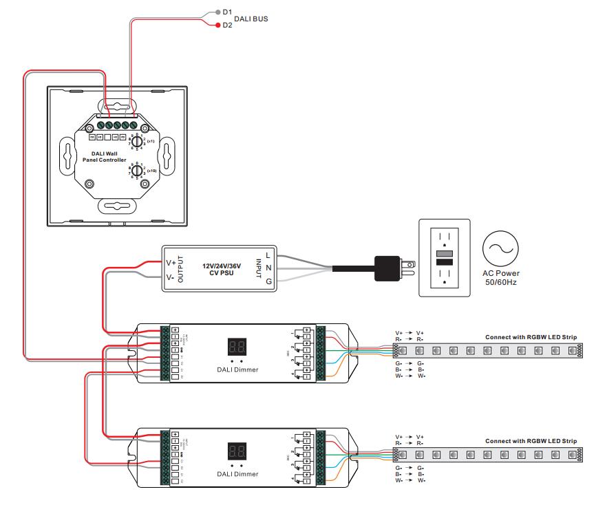 Rgbw Dali Dt6  Dt8 Touch Panel Controller Sr