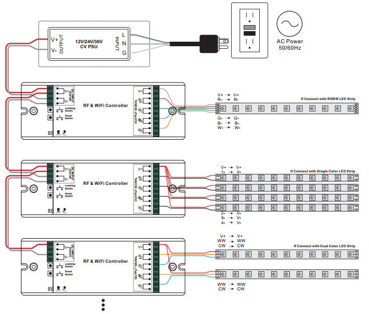 Wiring Diagram for Multiple Units