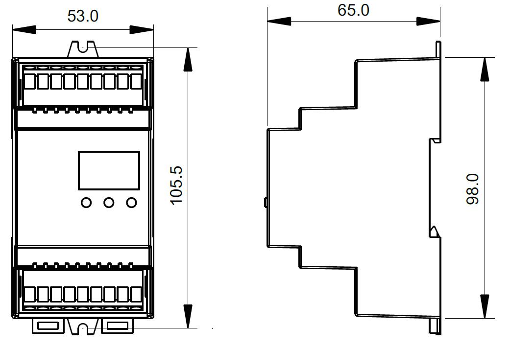din rail mounted dmx512 decoder sr