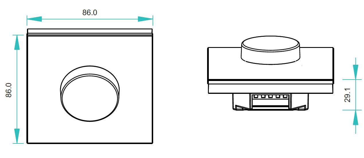 rotary 0 10v led dimmer switch sr 2202 1 10v. Black Bedroom Furniture Sets. Home Design Ideas
