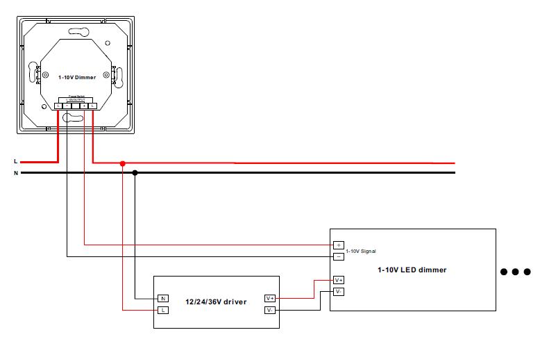 Built-in Power Switch Passive 1-10V Dimmer SR-2205-V2
