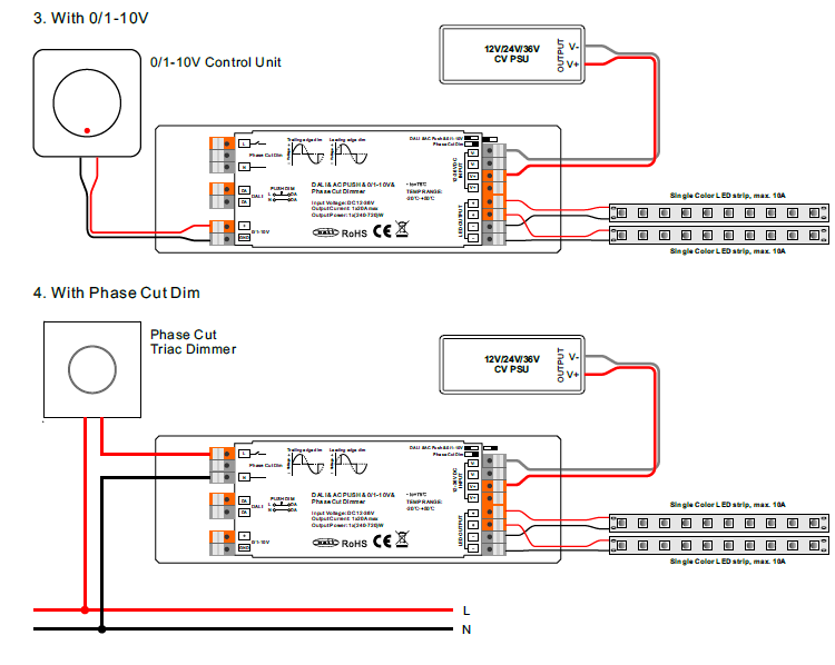 Multifunction 4 Dimming Interface In 1 Led Dimmer