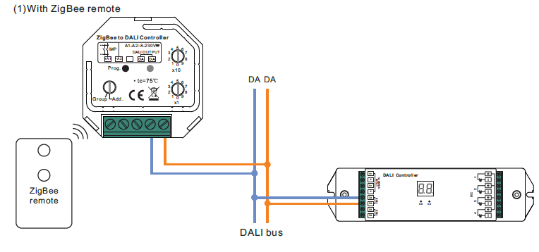 Zigbee To Dali Wireless Dt6 Controller With Push Sr