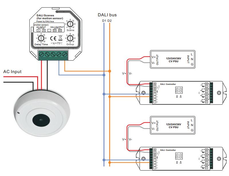 4 way motion sensor switch wiring dali scene controller for motion sensor sr 2412 scenes motion sensor diagram #1