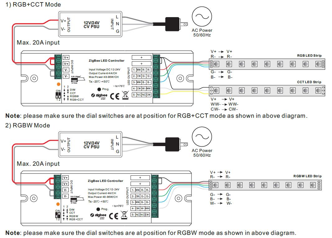 Dim Cct Rgbw Rgb Cct 4 In 1 Constant Voltage Zigbee Led