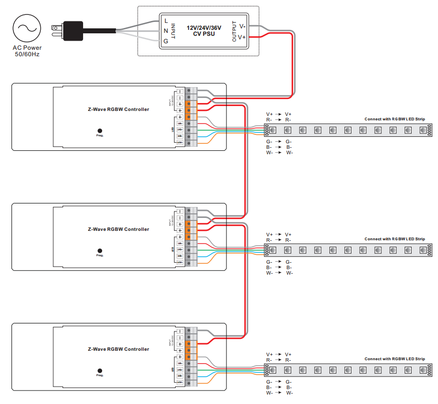 R C Time Constant Circuit Diagram: RGB Wall Mounted Push Button Z-wave Secondary Controller