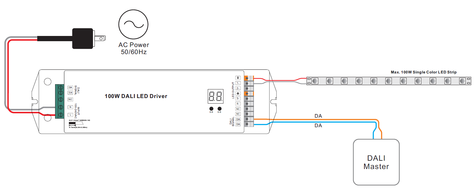 Dali Led Driver Wiring Diagram For Electrical Diagrams Dimmable 2 Certified Constant Voltage 100w Srp Tutorial