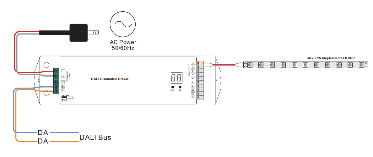 Dali 2 Certified 75w Dimmable Led Driver Srp 2309 24 75cvf