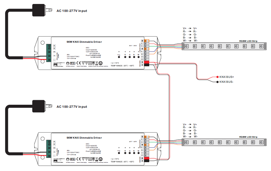 knx lighting control wiring diagram 4 channels constant voltage 96w    knx    led dimming actuator  4 channels constant voltage 96w    knx    led dimming actuator